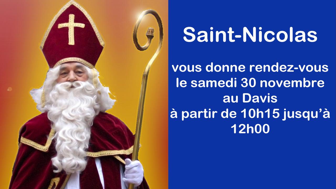Saint Nicolas le 30 novembre au Davis