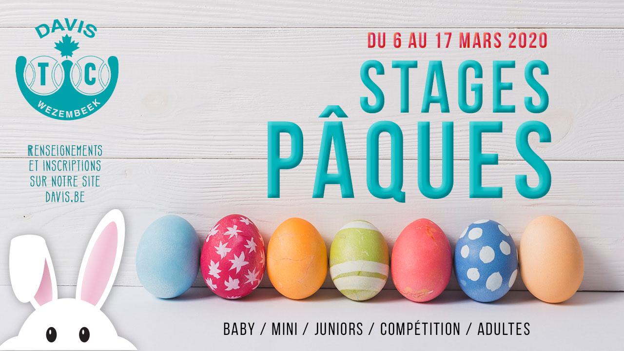 Stages de Pâques: Annulé!