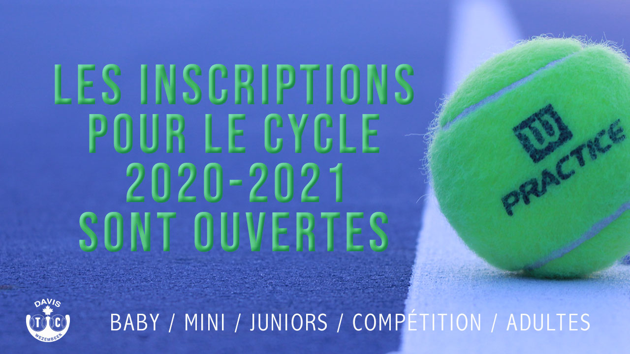 Inscriptions cycle 2020-2021