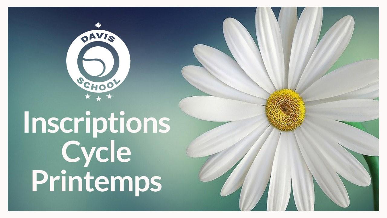 Inscription cycle printemps: Complet !